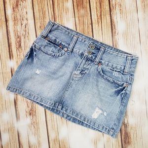 American Eagle Vintage Y2K 00s Mini Denim Skirt